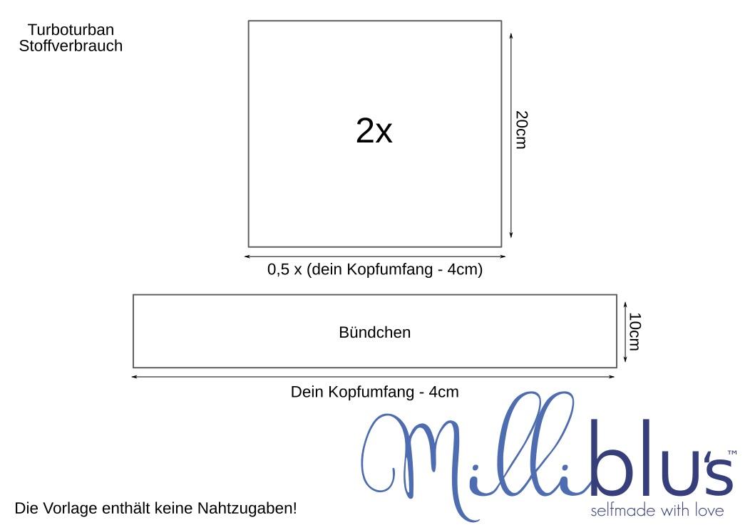 Turban nähen. Kostenloses Schnittmuster und Anleitung.